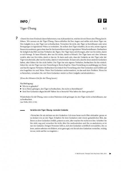 Psychosen: Tiger-Übung