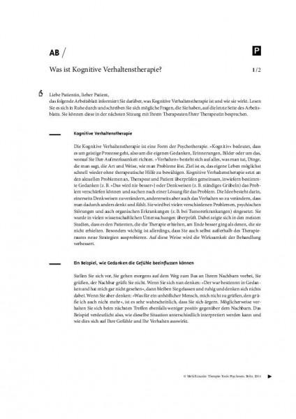 Psychoedukation mit psychotischen Patienten: Was ist Kognitive Verhaltenstherapie?