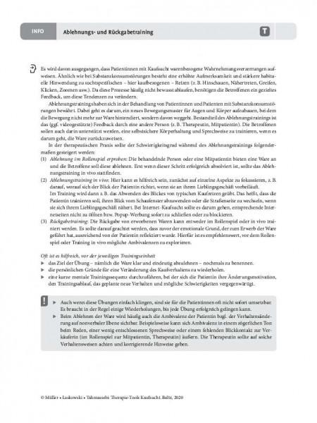 Kaufsucht: Ablehnungs- und Rückgabetraining – Informationen für Therapeutinnen