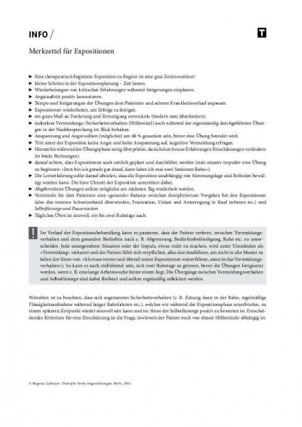 Merkzettel für Expositionen bei Angststörungen