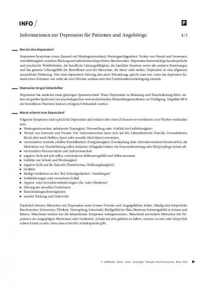 Informationen zur Depression für Patienten und Angehörige
