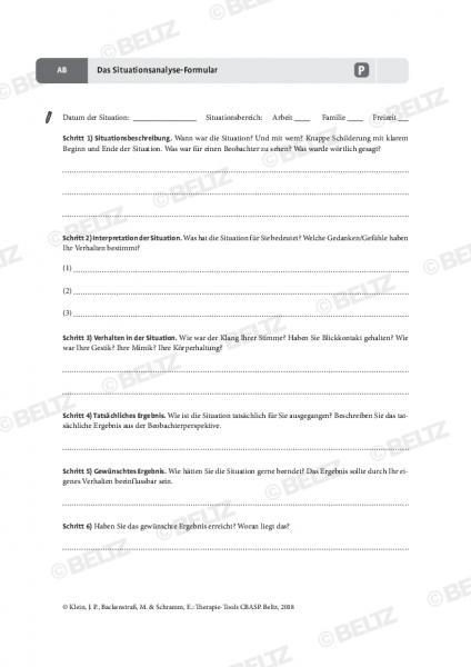 CBASP: Das Situationsanalyse-Formular