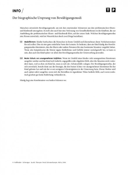 Schematherapie: Der biographische Ursprung von Bewältigungsmodi
