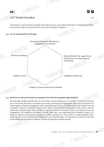 Depression: ACT-Modell (Hexaflex)