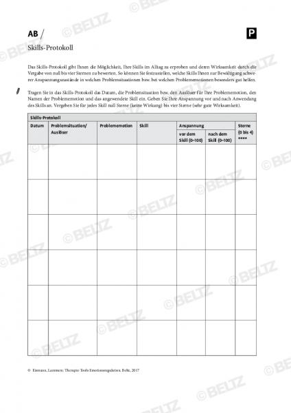 Emotionsregulation: Skills-Protokoll