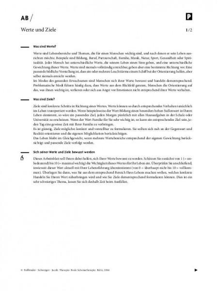 Schematherapie: Werte und Ziele