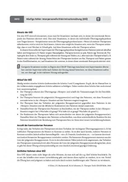 CBASP: Häufige Fehler: Interpersonelle Diskriminationsübung