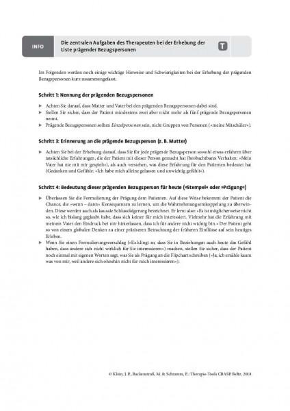 CBASP: Die zentralen Aufgaben des Therapeuten bei der Erhebung der Liste prägender Bezugspersonen