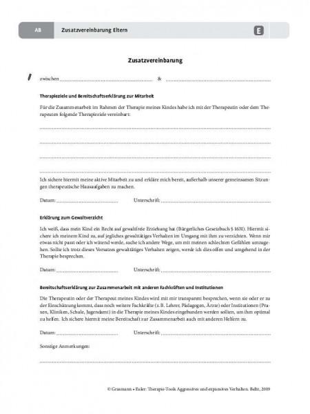 Aggression: Zusatzvereinbarung Eltern
