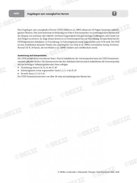 Kaufsucht: Informationen zum Fragebogen zum zwanghaften Horten