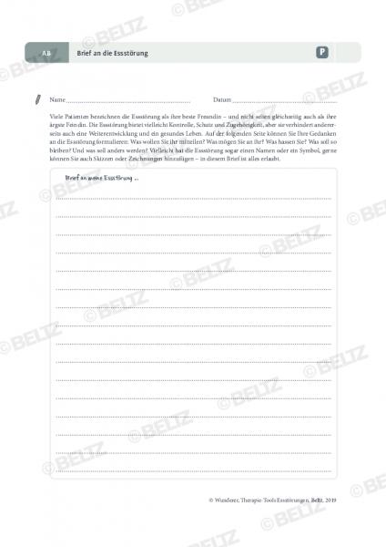 Brief an die Essstörung