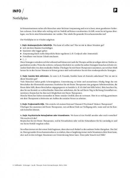 Schematherapie: Notfallplan