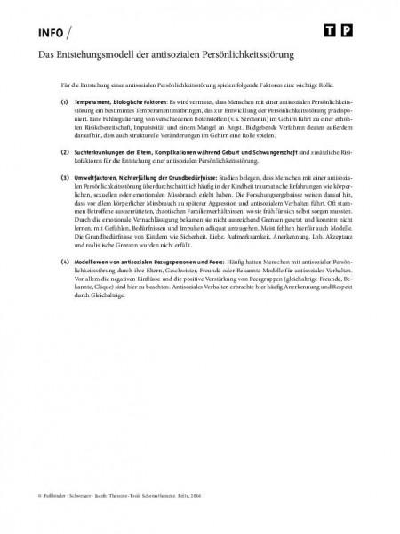 Schematherapie: Das Entstehungsmodell der antisozialen Persönlichkeitsstörung
