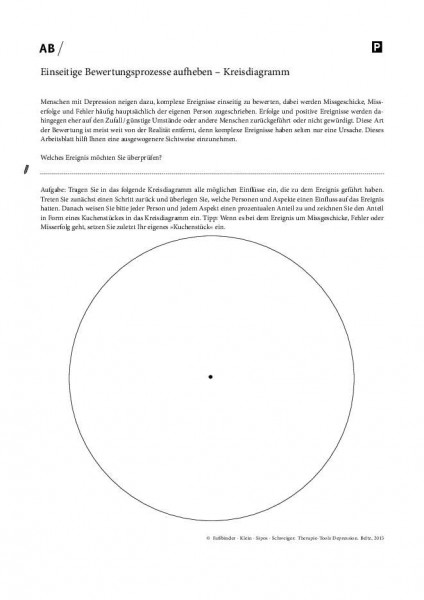 Depression: Einseitige Bewertungsprozesse aufheben – Kreisdiagramm