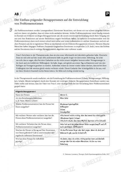 Emotionsregulation: Der Einfluss prägender Bezugspersonen auf die Entwicklung von Problememotionen