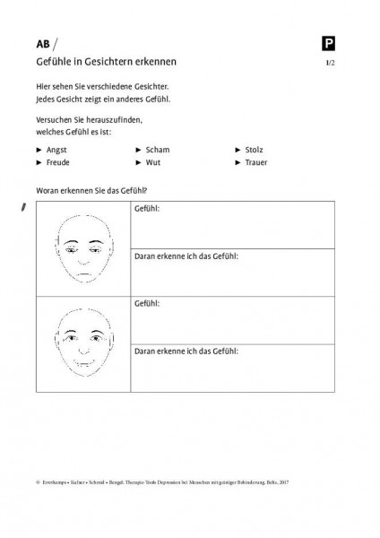 Depression und geistige Behinderung: Gefühle in Gesichtern erkennen