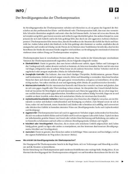 Schematherapie: Der Bewältigungsmodus der Überkompensation