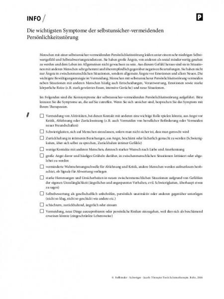Schematherapie: Die wichtigsten Symptome der selbstunsicher-vermeidenden Persönlichkeitsstörung