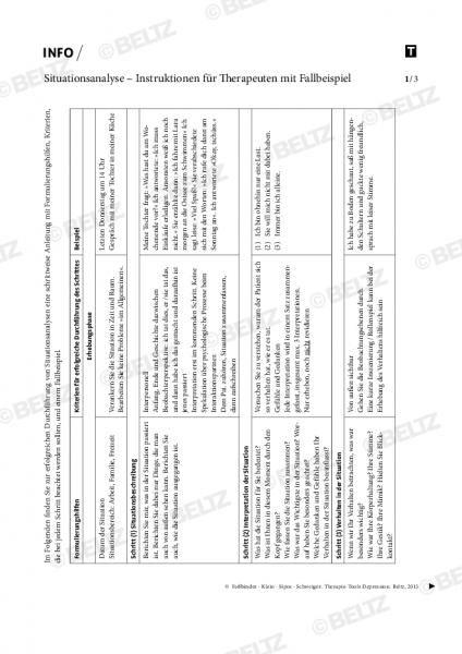 Depression: Situationsanalyse – Instruktionen für Therapeuten mit Fallbeispiel