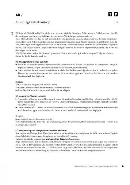 Angststörungen: Anleitung Gedankenstopp