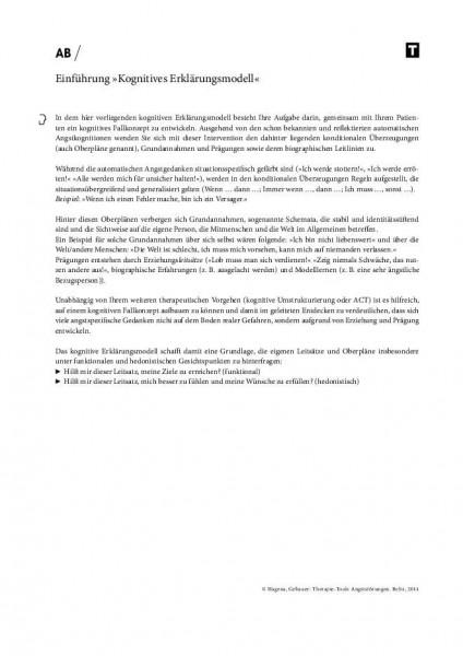 Einführung »Kognitives Erklärungsmodell« bei Angststörungen