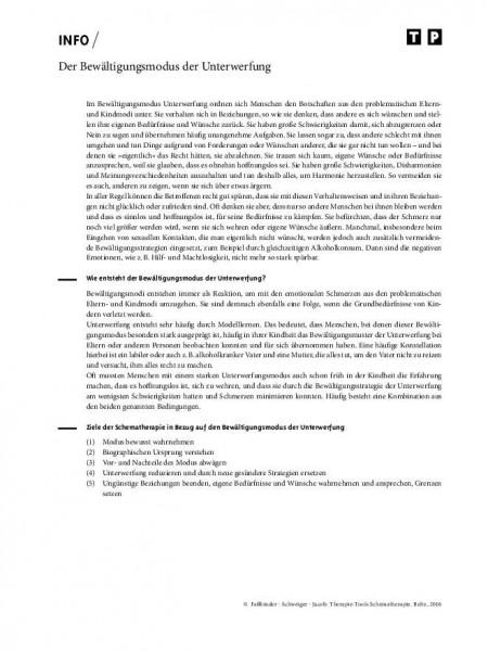 Schematherapie: Der Bewältigungsmodus der Unterwerfung