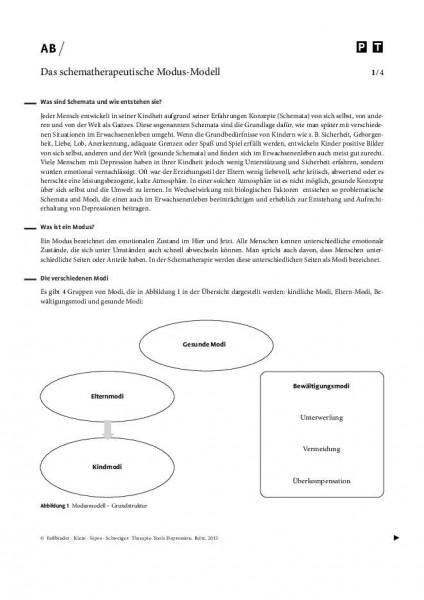 Depression: Das schematherapeutische Modus-Modell