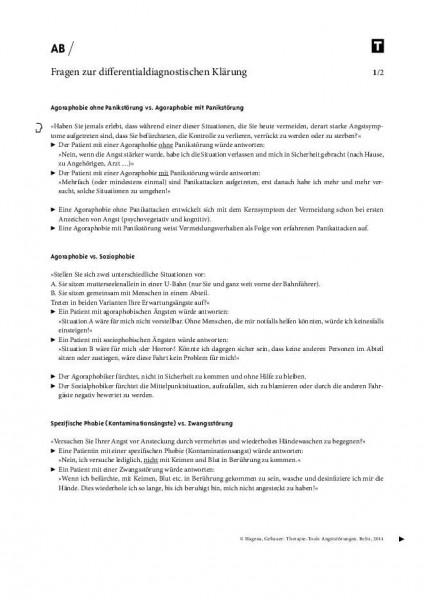 Fragen zur differentialdiagnostischen Klärung von Angststörungen