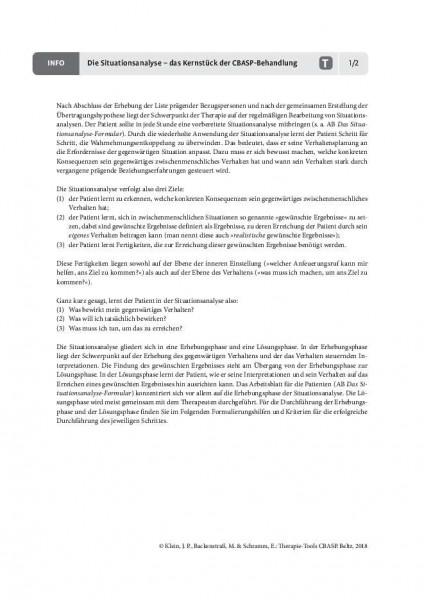 Die Situationsanalyse – das Kernstück der CBASP-Behandlung