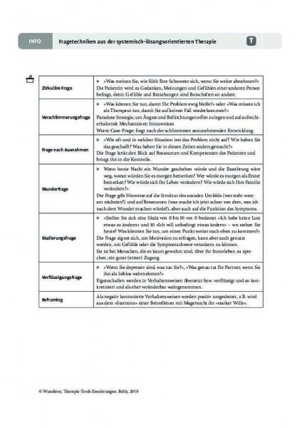 Essstörungen: Fragetechniken aus der systemisch-lösungsorientierten Therapie
