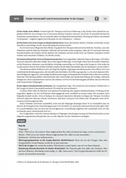 CBASP: Kiesler-Kreismodell und Stimuluscharakter in der Gruppe