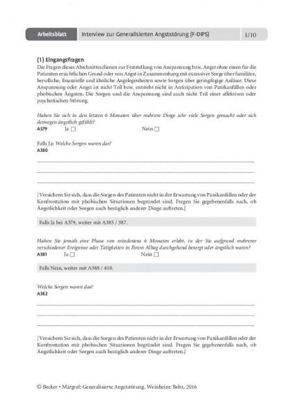 Interview zur Generalisierten Angststörung (F-DIPS)