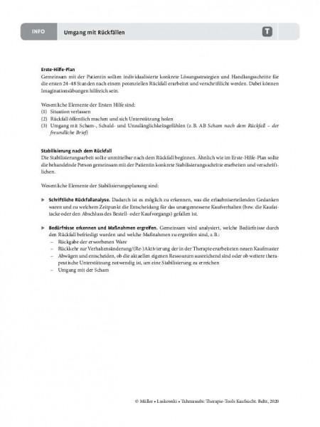 Kaufsucht: Umgang mit Rückfällen – Informationen für Therapeuten