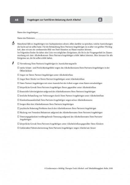 Fragebogen zur familiären Belastung durch Alkohol
