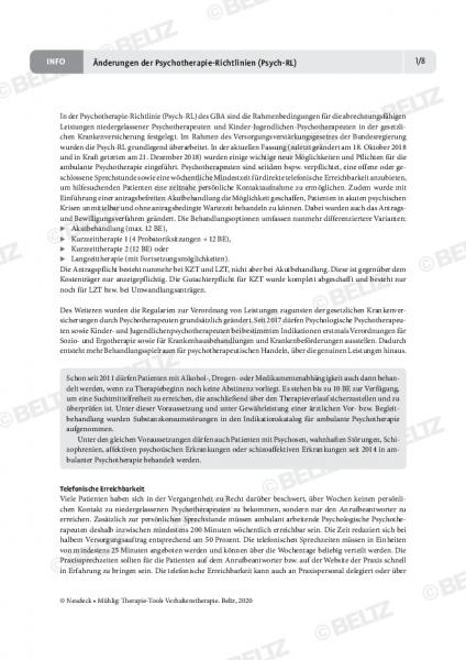 Änderungen der Psychotherapie-Richtlinien (Psych-RL)