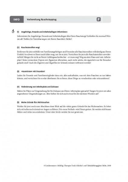Tabakabhängigkeit: Vorbereitung Rauchstopptag