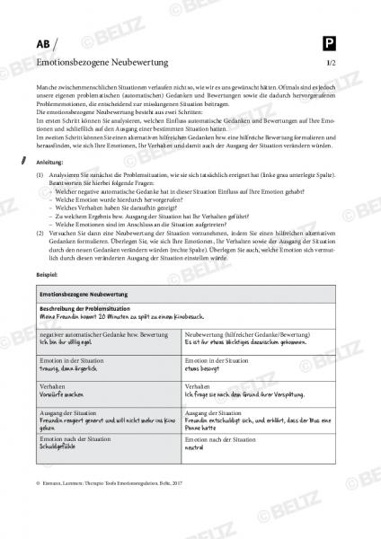 Emotionsregulation: Emotionsbezogene Neubewertung