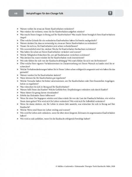 Kaufsucht: Beispielfragen für den Change-Talk