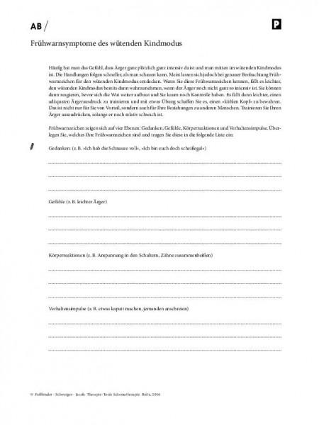 Schematherapie: Frühwarnsymptome des wütenden Kindmodus