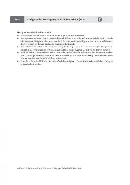 CBASP: Häufige Fehler: Kontingent persönliche Reaktion