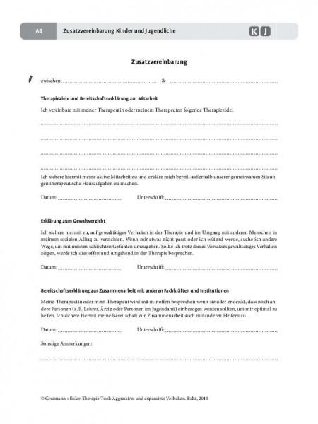 Aggression: Zusatzvereinbarung Kinder und Jugendliche