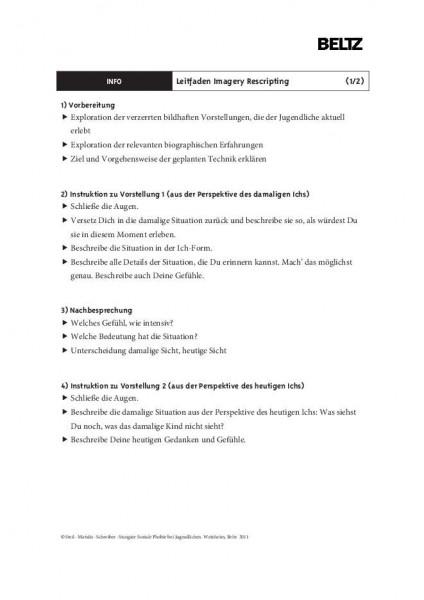 Soziale Phobie: Leitfaden Imagery Rescripting