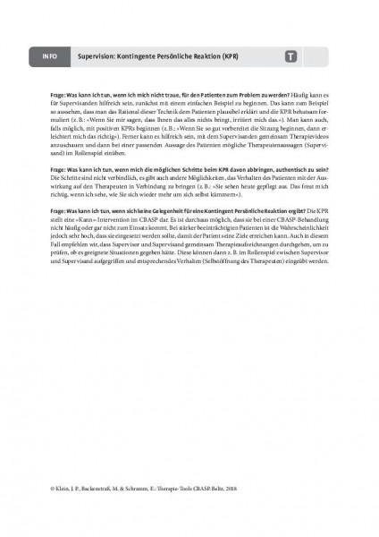 CBASP: Supervision: Kontingente persönliche Reaktion