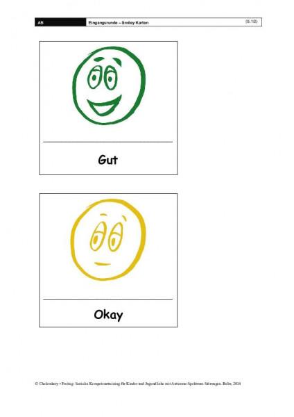 Eingangsrunde – Smiley Karten für das Soziale-Kompetenztraining bei ASS