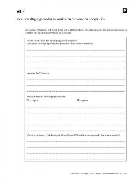 Schematherapie: Den Bewältigungsmodus in konkreten Situationen überprüfen