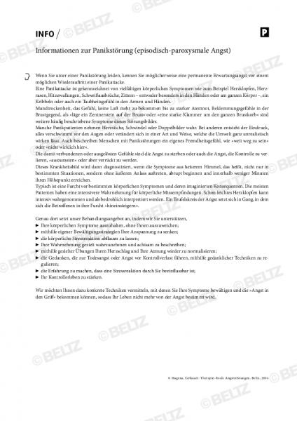 Informationen zur Panikstörung (episodisch-paroxysmale Angst)