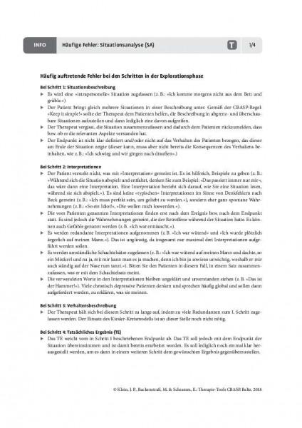 CBASP: Häufige Fehler: Situationsanalyse