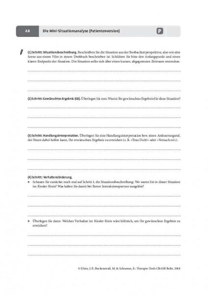 CBASP: Die Mini-Situationsanalyse (Patientenversion)