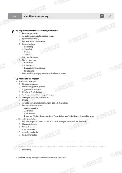 Verhaltenstherapie: Checkliste Kassenantrag