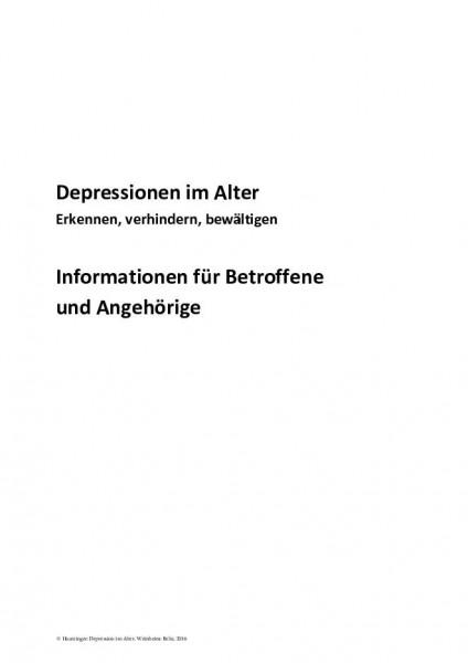 Depression im Alter: Informationen für Betroffene und Angehörige